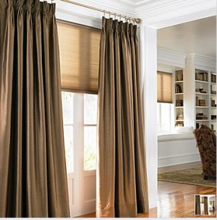 Mystique Chris Madden Pinch Pleat Drapes Aspen Gold 84
