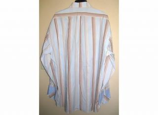 Mens Assante Sport Long Sleeve Striped Shirt Size 3XL Excellent
