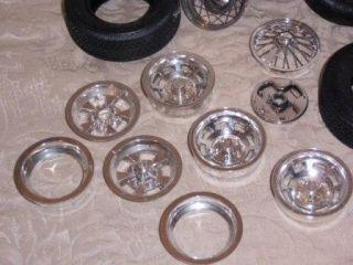 Vintage Lot Model Car Tires Rims Goodyear GT Radial Flexten Repair Kit