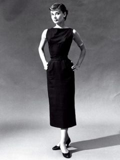 Banana Republic Classic Audrey Hepburn Black Cocktail Dress Silk Size
