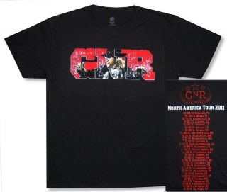 Guns N Roses AXL Scream GNR IMG 2011 Tour Orlando Las Vegas Blk T