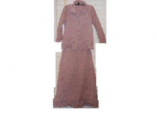 Babette SF Dusty Rose Crinkle Pleat Art To Wear Lagenlook Shirt Jacket