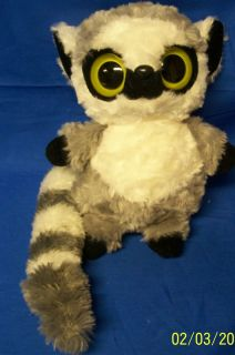 Plush Lemur Aurora World Gray White Stuffed Toy Cute
