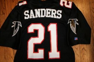 Vintage Deion Sanders Atlanta Falcons Jersey Sz 48 Russell Athletic