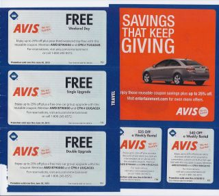 Avis rental discount coupons