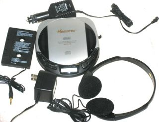 Portable CD Player AC Adapter Car Kit Cassette Adapter Case
