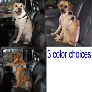 Dog SUV Truck Van Car Safety Pet Restraint Harness w Seat Belt Strap