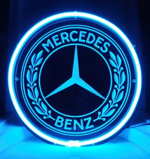 SB246B Mercedes Benz European Autos Bike Motorcycle Display Neon Light