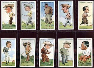 Card Set WA AC Churchman Prominent Golfers Bobby Jones etc 1931
