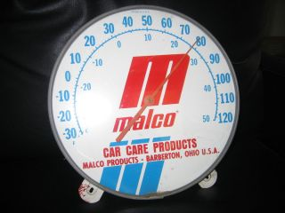 Vintage MALCO Car Care Products Thermometer Works