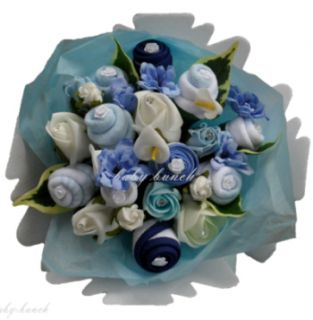 Baby Clothes Bouquet Handmade Boy Baby Shower Gift New