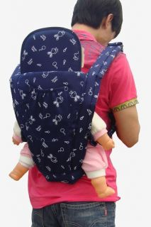 Top New Front Back Baby and Kids Carrier Backpack Sling Blue 100