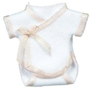 Dollhouse Miniature Baby Doll Clothes Pink Onesie Falcon Minis