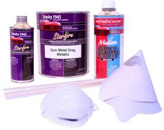 Gun Metal Gray Metallic Urethane Acrylic Car Paint Kit