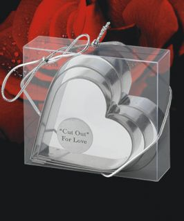 100 Heart Shaped Cookie Cutters Baby Shower Bridal Wedding Event Favor