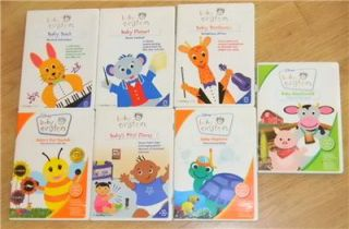 Disney Baby Einstein DVD Lot of 7 Baby Bach Baby Mozart Babys First
