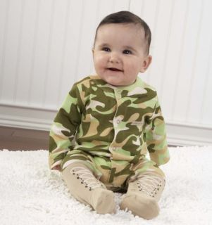 Baby Aspen Big Dreamzzz Baby Camo Layette Set with Gift Box Tan 0 6
