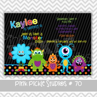 Monster Bash Halloween Personalized Party Invitation or Thank You Card