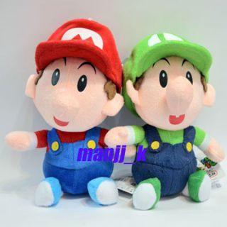 New 20cm Super Mario Plush Doll Figure Baby Mario Luigi