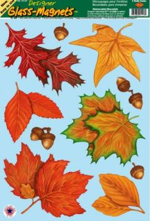 Fall Leaf Leaves Window Clings Thanksgiving Holiday Party Decorations
