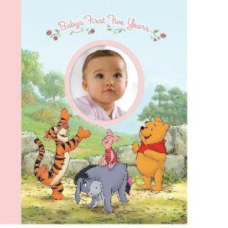 Disney Baby Girl First 5years Keepsake Record Book Album with Storage