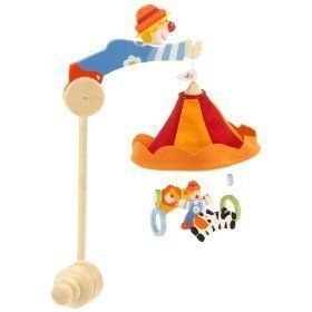 Sevi Le Cirque Hanging Baby Mobile Musical Holder New