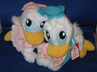 Disney Park Vintage BABY DONALD DUCK DAISY plush animals MINT w tags