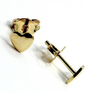 Gold 18K GF 4mm Tiny Heart Earrings Baby Girl Toddler Kids Love Stud