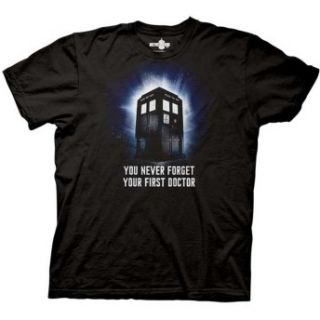Tardis You Never Forget Your First Doctor Adult TV Show T Shirt
