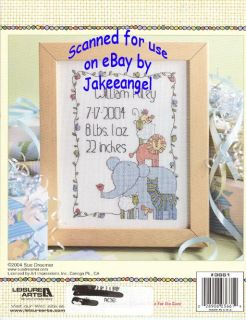 Cross Stitch Pattern Booklet Noahs Ark Baby Animals New