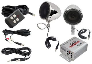 100 Watts Amp and Speakers Motorcycle Audio Sound System