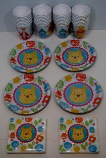 Winnie The Pooh Baby Shower Party Set 32 Dessert Plates Beverage