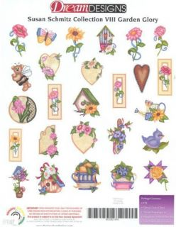 Brother Babylock Embroidery Machine Card OESD Garden Glory