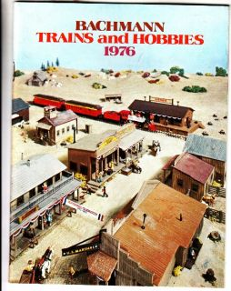 Bachmann 1976 Trains Hobbies Model Railroad Catalog HO N 0 s Scale