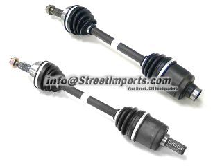 B16A B18C Civic Del Sol Pair Axles Driveshafts ABS or Non ABS 250 whp