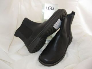 UGG Ayer Black Slip on Mens Ankle Boot UK 8 US Sz 9 New Casual Shoes