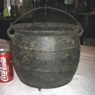 Primitive Farm Cast Iron Cauldron Kettle Country Art