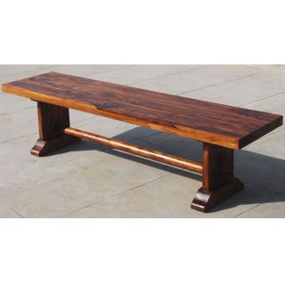 Wood Rustic Trestle Indoor Outdoor Garden Backless Bench Furniture NEW