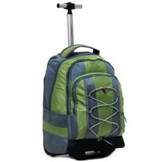 18 Olive Rolling Backpack Wheeled College Bookbag Travel Carry on