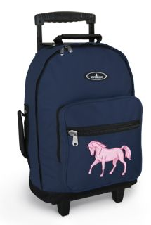 Pink Horse Wheeled Backpacks with Wheels Best Rolling Carryon Travel