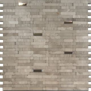 steel insert gray marble stone mosaic tile backsplash kitchen
