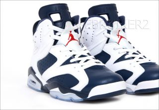 Nike Air Jordan 6 VI Retro Olympic 2012 White Navy 2000 US 8 5 Miro