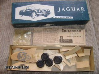 Ace Jaguar Car Wooden Model Kit USA Kit No 25 Design by Babb