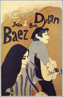 BOB DYLAN JOAN BAEZ 1965 Tour Concert Poster