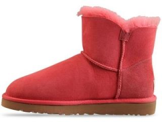 NWB WOMEN UGG BOOT MINI BAILEY BUTTON TEA ROSE SIZE 8 RETAIL$180