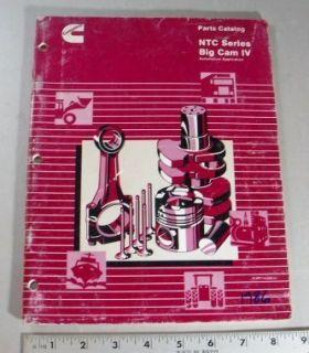 Cummins Parts Manual NTC Series Big Cam IV Automotive Application 1986