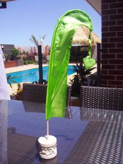 Mini Wedding Umbul Flags Table Decorations Bali Flags with Pole