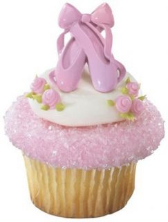 Cupcake Rings Cake Toppers Favors Bakery Supplies Ballerina 24