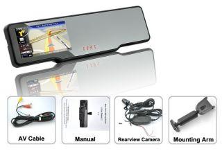 Capacity screen Car rearview mirror GPS Built in radar detector