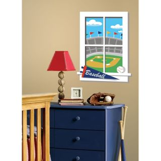RoomMates Play Ball Peel and Stick Window Wall Decal Play Ball